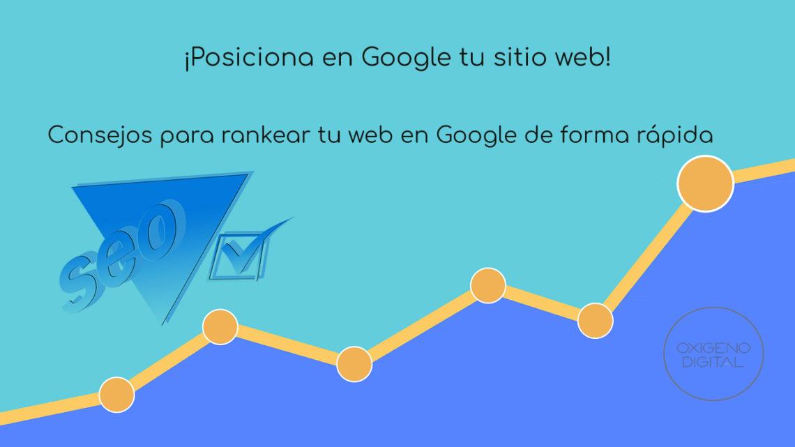 Rankear web en Google de forma correcta