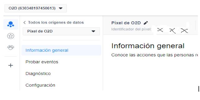 Lugar dónde aparece el ID de Facebook para instalar en el plugin