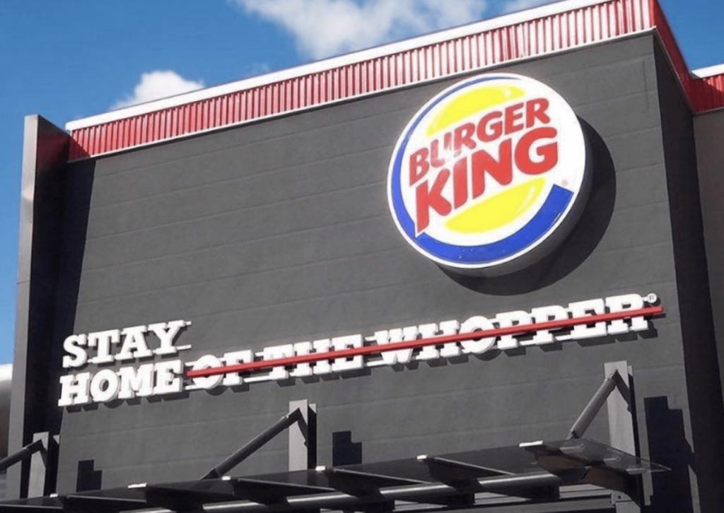 Marketing y coronavirus. Un ejemplo de Burger King