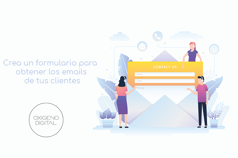 Formulario para obtener correos de usuarios y crear campañas de email marketing
