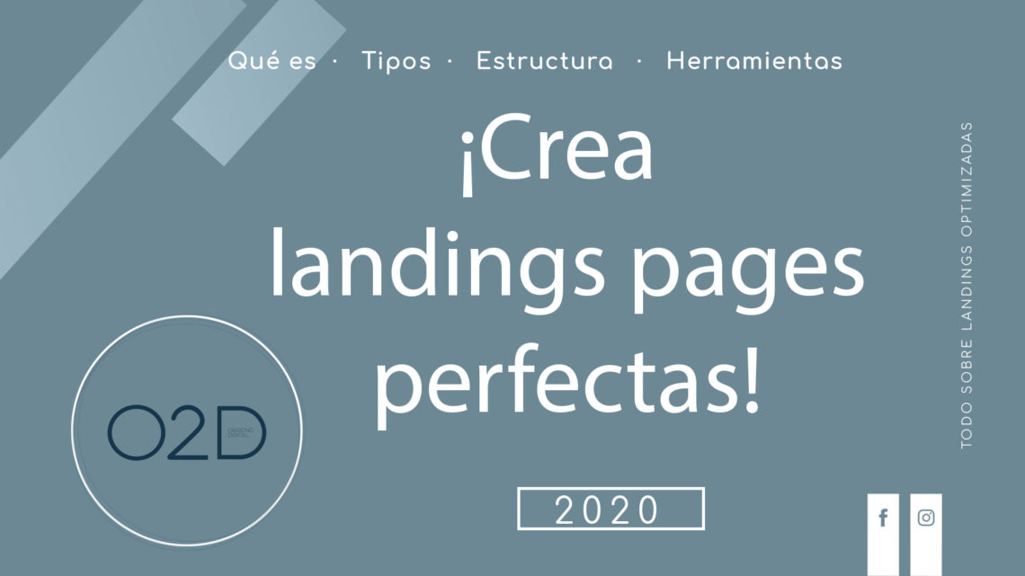 Portada para blog de marketing sobre landing pages